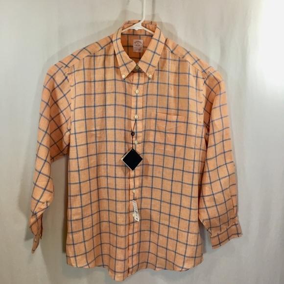 Brooks Brothers Other - Brooks Brothers Shirt XL, Lg Sleeves, Orange&Blue